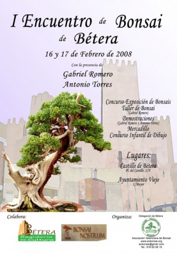 Cartel I Encuentro de bonsai en Betera