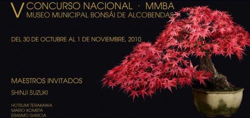 Cartel V Concurso Nacional de Bonsai - MMBA 2010