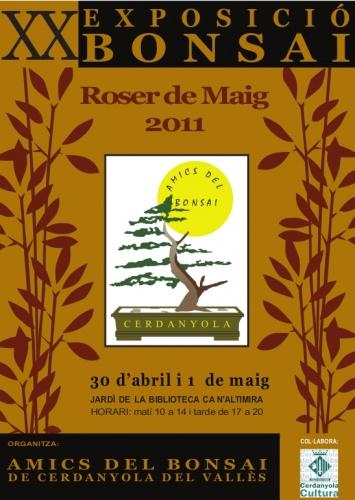 Cartel XX Exposicion Bonsai Roser de Maig
